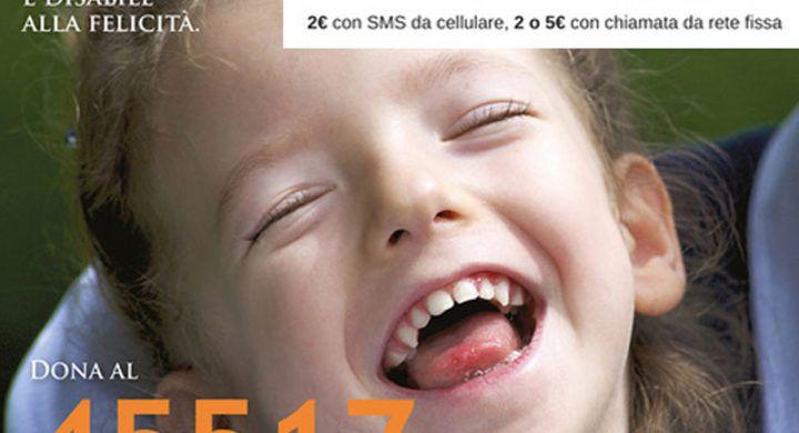 SMS Solidale Fondazione Ariel Paralisi cerebrale